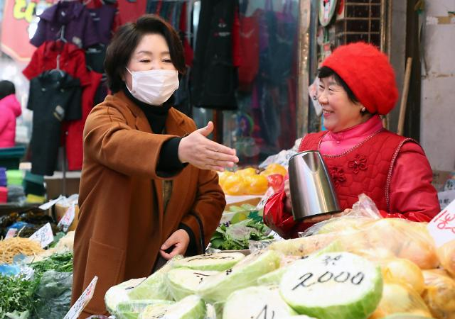 韩国第一夫人访问传统市场