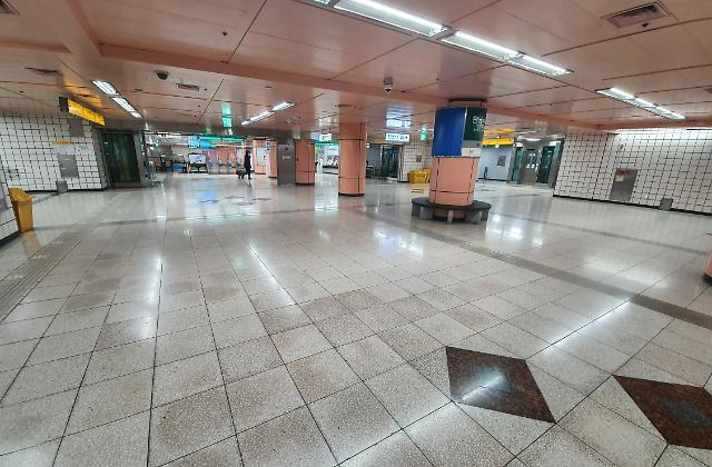 空空如也的大邱地铁站