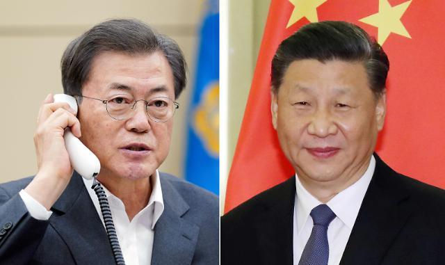 [코로나19] 文 대통령, 시진핑과 1년 9개월 만에 통화…양국 임상치료 공유키로(종합)