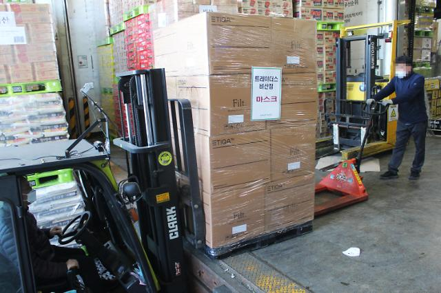 易买得向大邱庆北地区供应221万只口罩 每人限购30只