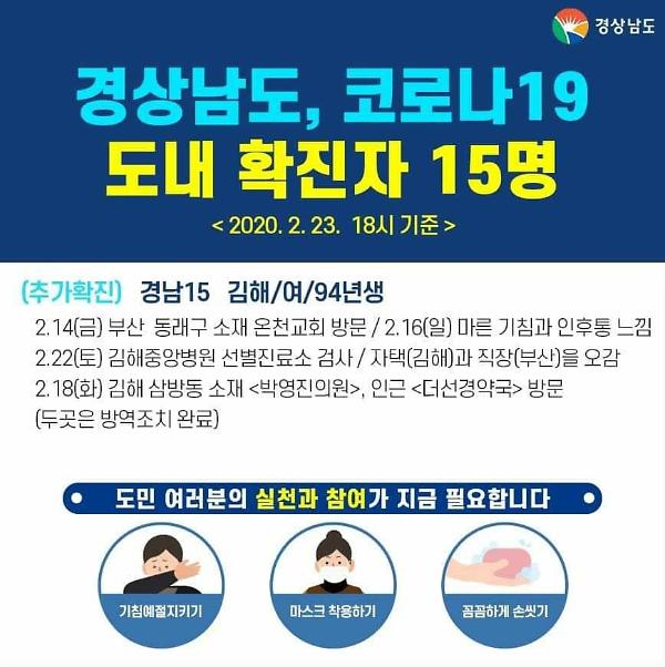 김해시, 코로나19 첫 확진자 동선은?