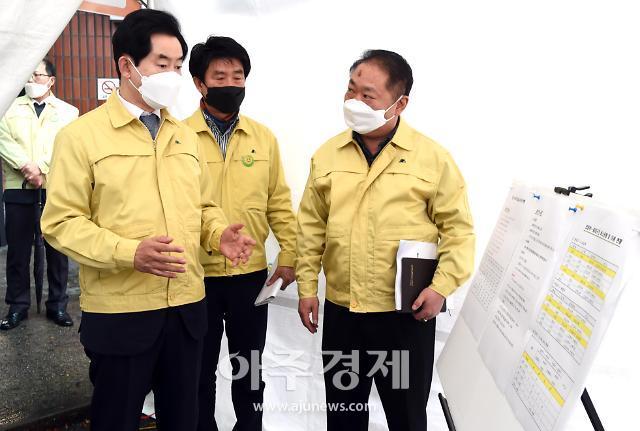 [코로나19] 안병용 의정부시장, 신천지교회 폐쇄 직접 확인