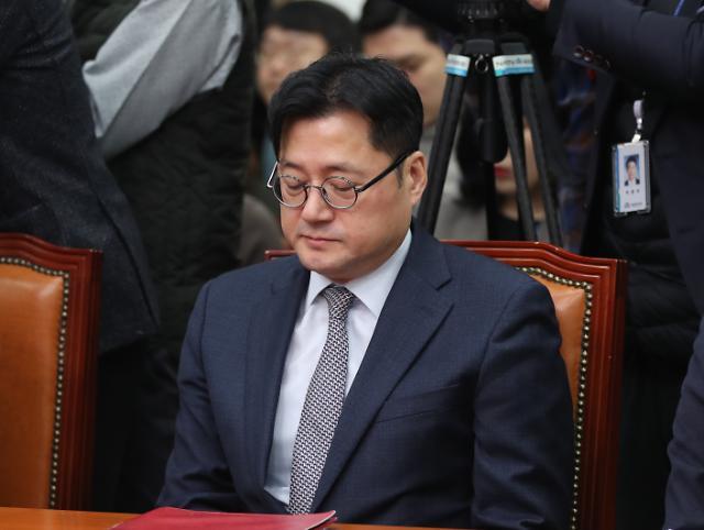 [포토] 대구·경북 봉쇄 발언 홍익표, 대변인직 사의 표명