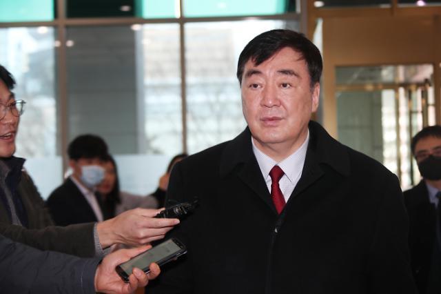 韩国副外长金健会见中国大使邢海明