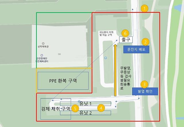 인천시, '드라이브스루 선별진료센터' 선학경기장 3월 2일 가동