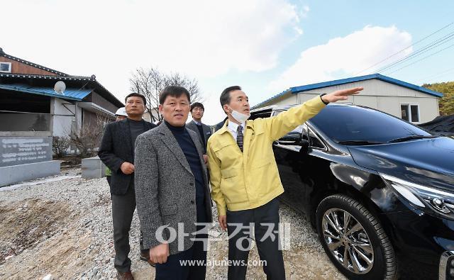 이항진 여주시장, 도로개설 공사현장 점검