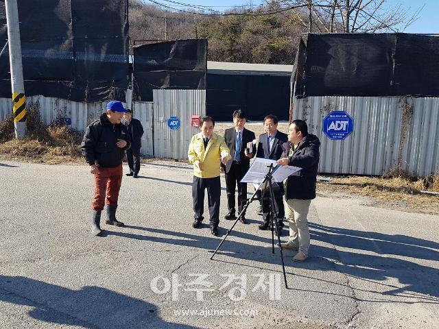 박윤국 포천시장, 기업불편(SOS) 해소사업 현장방문