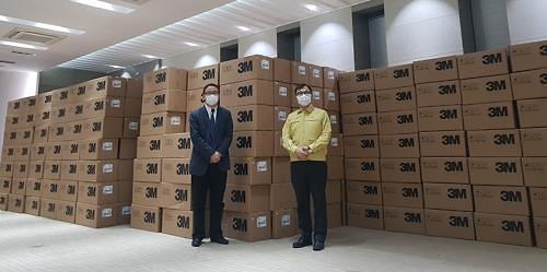 上海市捐赠的50万只口罩明将运抵韩国