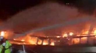 Cháy tàu cá gần đảo Jeju 5 thuyền viên Việt Nam mất tích