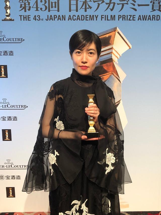 [포토] 심은경, 신문기자로 일본 아카데미상 최우수 여우주연상 수상