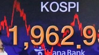 KOSPI đóng cửa tăng sau ba ngày giao dịch liên tiếp giảm... leo lên dòng 1960