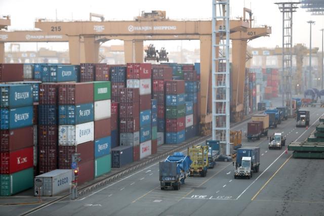 韩国3月前10天出口同比增21.9% 日均减2.5%