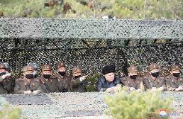 .金正恩指导炮兵部队射击对抗赛.