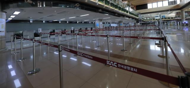 [코로나19] 제주공항 국제선 올스톱…51년만에 처음