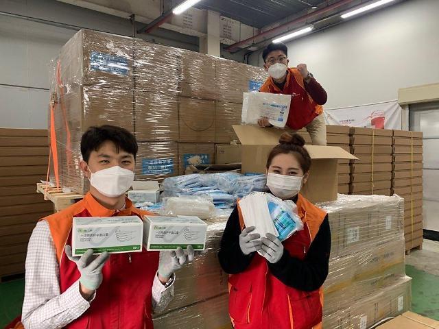 중국 우시 정부, SK하이닉스에 마스크·방호복 등 기증