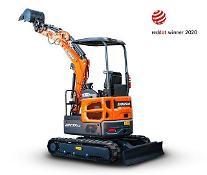 斗山インフラコア、最新の1.7トンミニ掘削機で「レッドドットデザイン」本賞受賞