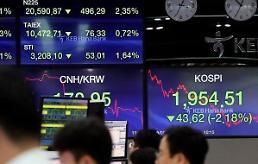 .韩国100家上市公司总市值蒸发近三分之一.