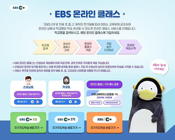 EBS, 초·중·고 온라인 클래스 시작···접속 방법은?