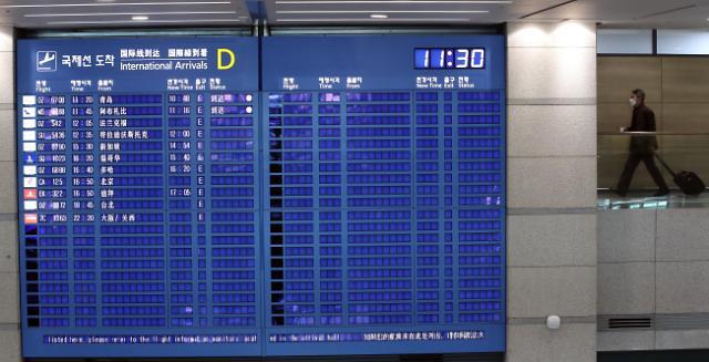 仁川国际机场航班数创2001年以来历史最低水平