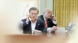 .韩美首脑通电话共商合作抗击新冠疫情.