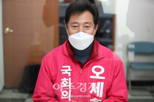 [포토] 필승 다짐하는 오세훈 광진을 후보