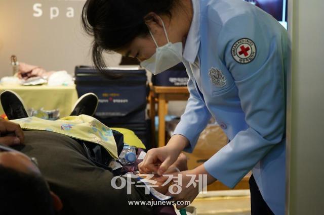 [코로나19] 선한목자병원, 임직원 헌혈행사로 혈액 기부