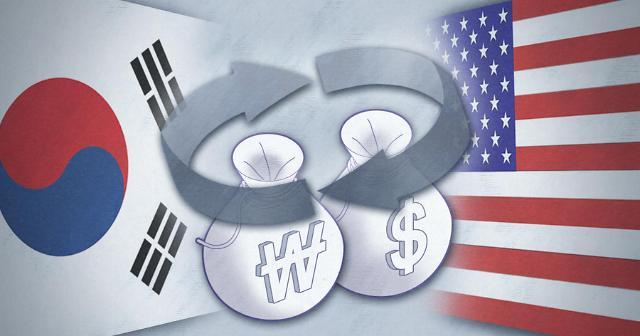 韩美互换货币首批120亿美元31日投放韩国市场