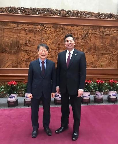 韩国驻华大使张夏成会见中国副外长罗照辉