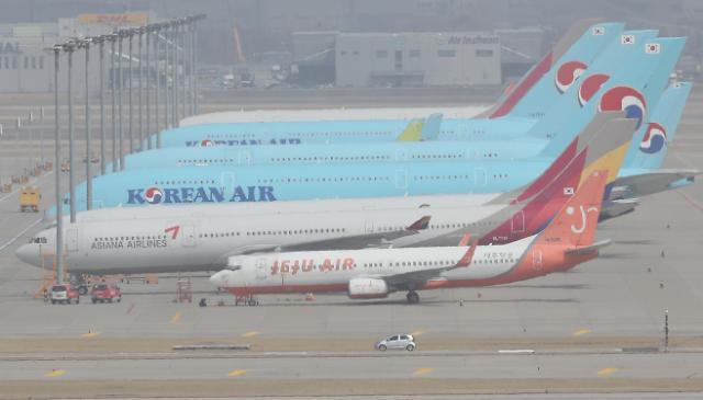 3月韩国国内外航线客运量创新低