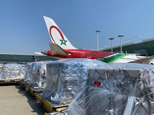 [포토] 모로코로 운송될 코로나19 관련 한국 의료품