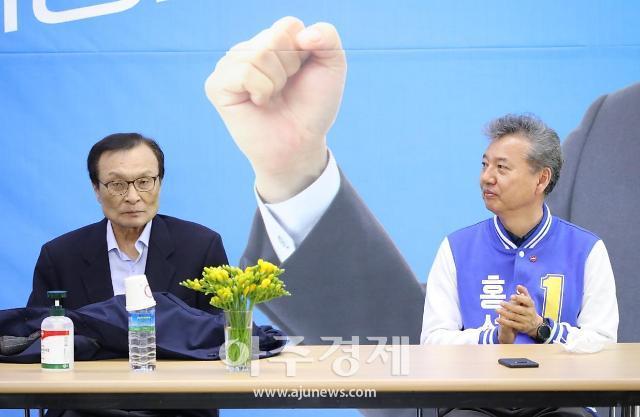 [세종시 총선현장] 민주당 이해찬·통합당 김종인, 각각 자당 후보들 지원사격