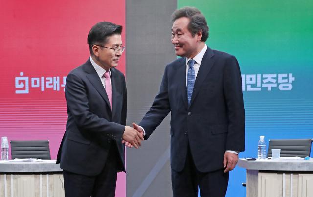[포토] 토론회서 만난 황교안-이낙연