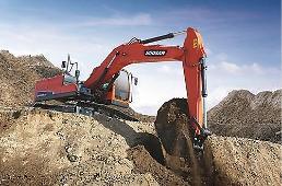 .韩国斗山工程机械在华售出32台挖掘机.