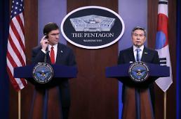 .韩美国防部长官通电话 就防卫费分担金进行讨论.