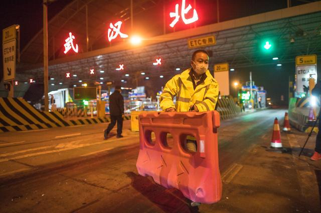 [중국포토]76일만에 봉쇄 해제되는 우한... 도로 통제 해제