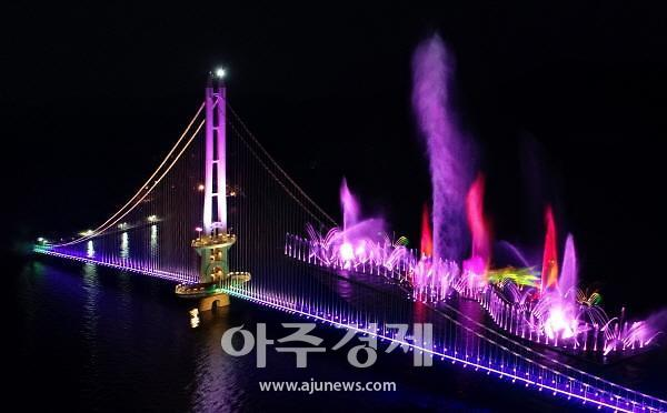예산군 예당호 출렁다리, 한국관광공사 '야간관광 100선'에 선정