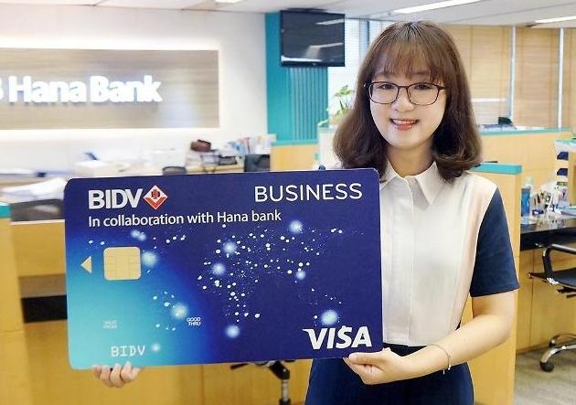 Ngân hàng Hana hợp tác với ngân hàng BIDV phát hành thẻ doanh nghiệp