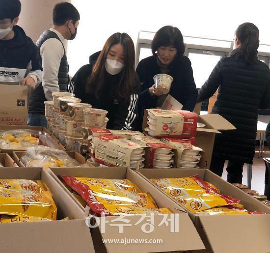 안양시청소년재단, 코로나19 긴급돌봄지원 식료품 등 제작 전달