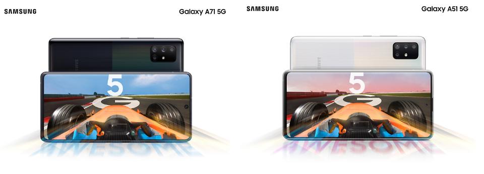 """삼성전자 갤럭시A71·A51 5G 모델 공개…""""합리적인 가격으로 5G 제공"""""""