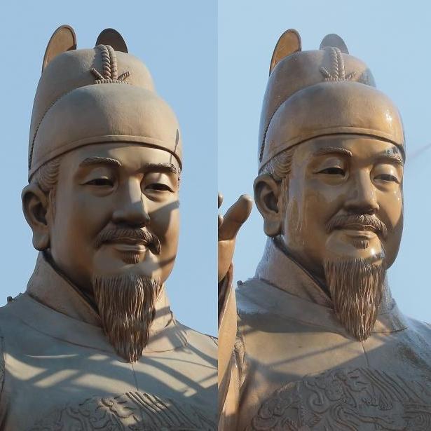 [포토] 세종대왕, 물광 미남으로 변신