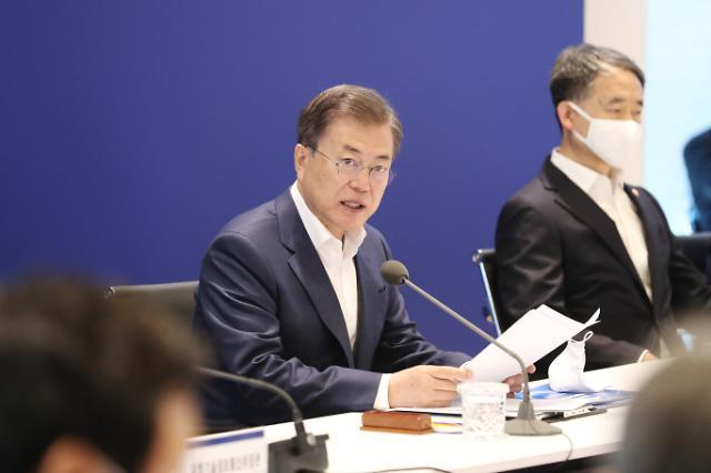 文대통령 바이러스 연구소 설립…코로나19 백신 개발에 2100억 투입