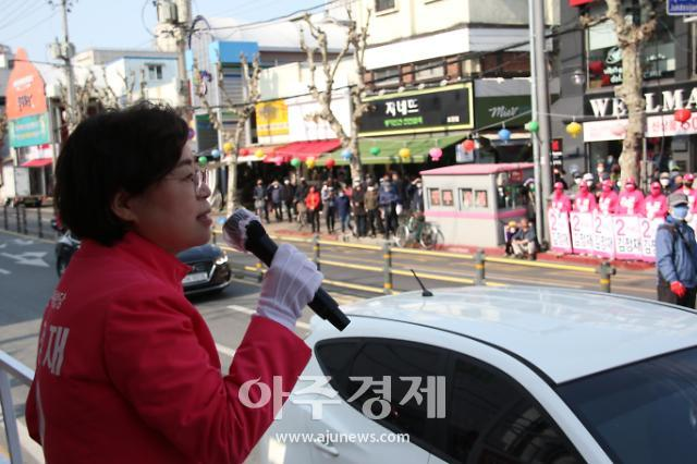 김정재 후보, 9일 죽도시장 집중 유세 펼쳐
