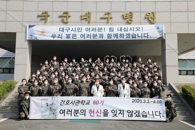 코로나19 최전선 지켜낸 대구행 신임 간호장교 임무 완수