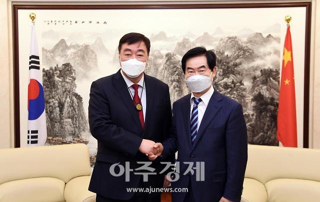 중국 차하얼학회, 의정부 등 한국에 방역마스크 30만장 기증
