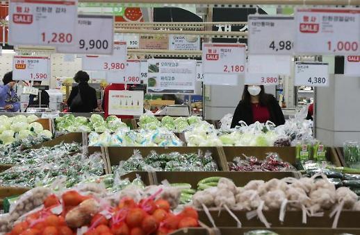 韩国4月消费者物价同比上涨0.1% 为6个月来最低水平