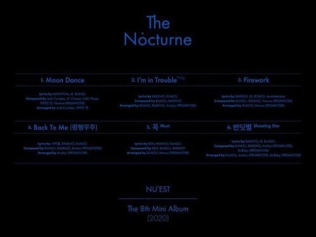 NUEST公开新专辑歌单
