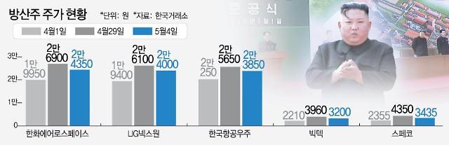 방산株 사들였던 불개미··· 김정은 등장에 주가 와르르