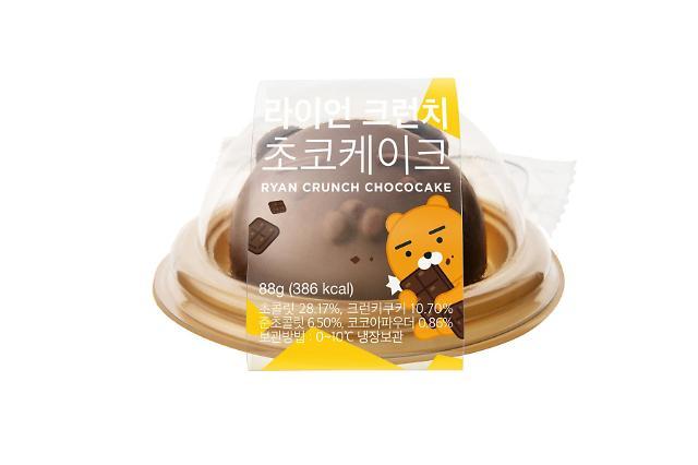 Kakao Friends推出Ryan焦糖巧克力蛋糕
