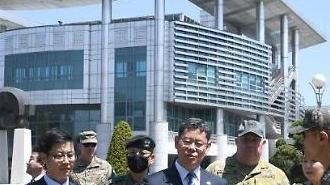 김연철 통일부 장관, 판문점·철거 GP 방문…北 GP 총격 후 사흘 만(종합)