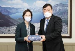 .韩教育部长与中国大使合影.